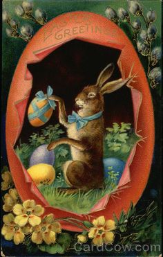 Easter Greetings With Bunnies