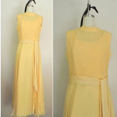 NEW IN THE SHOP! Vintage 1970s Sleeveless Yellow Dress (35/28/39) http://ift.tt/1lP6fC1