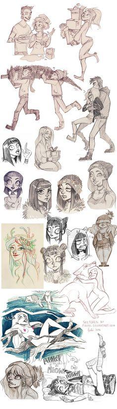sketch dump - OCs by Fukari.deviantart.com on @DeviantArt