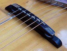 guitar bridge types - Google Search Jazz Guitar, Guitar Parts, Cool Guitar, Acoustic Guitar, Ukulele, Banjo, Basic Guitar Lessons, Cigar Box Guitar, Guitar Accessories