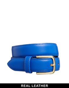 American Apparel Royal Blue Belt with Gold Buckle
