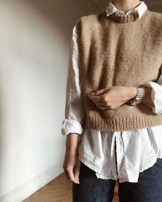 go steal a shirt. from your boyfriend, husband or lover. knit in double soft merino from Mode Outfits, Casual Outfits, Fashion Outfits, Womens Fashion, Look Fashion, Korean Fashion, Winter Fashion, Knit Fashion, Fashion Details