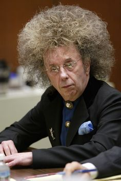** FILE ** Music producer Phil Spector is shown in Superior Court Monday, in this May 23, 2005 file photo, in Los Angeles. Jury selection will begin in March, 2007 in the murder trial of Spector, who's charged with killing actress Lana Clarkson in his suburban mansion, a judge said Tuesday, Jan. 16, 2007. (AP Photo/Damian Dovarganes)
