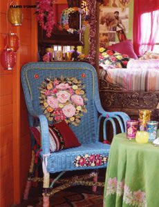 Boho Chic Home Decor 25 Bohemian Interior Decorating Ideas boho painted furniture darcy furniture Painted Wicker, Painted Chairs, Hand Painted, Bohemian Interior, Bohemian Decor, Bohemian Bedding, Rustic Bedding, Wicker Furniture, Painted Furniture