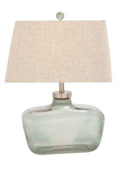 Glass Metal Table Lamp//