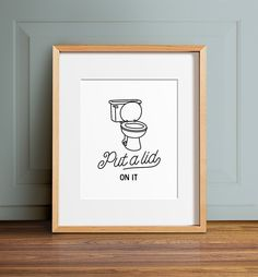 """This funny bathroom print, """"squeeze my bottom"""" (haha, get it?) is available as printable art or as a print shipped to your home in a variety of sizes. Bathroom Humor, Laundry In Bathroom, Bathroom Signs, New Bathroom Designs, Bathroom Prints, Yellow Cupboards, Yellow Bathroom Accessories, Painted Benches, Yellow Tile"""