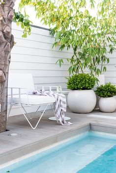Perth Landscape Design to transform your outdoor spaces. Denise will work with you to create a garden design which is tailored to you, your lifestyle and your property so you can live in a space you love! Backyard Pool Landscaping, Pool Fence, Swimming Pools Backyard, Landscaping Ideas, Hampton Pool, Outdoor Spaces, Outdoor Living, Swimming Pool Enclosures, Mission House