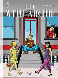 ON SALE TODAY: While you're at the comic shop, why not pick out this awesome New Yorker-inspired LIFE WITH ARCHIE #32 collectors cover by Dean Haspiel? Visit the Red Circle Comics page to check out more of his work on THE FOX, coming this October!
