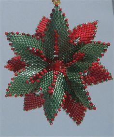 Beaded Reversible Flower Ornament by Beading4u on Etsy