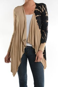 Taupe with Black Spiral Cardigan – Lil Nook Corp