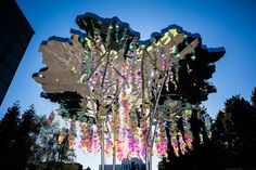 the 'urban tree lounge' is an expression of what can happen when materials and architecture are combined in new and creative ways.