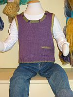 Child's Knitted Vest with Shoulder Openings