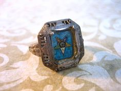Victorian Sterling Silver Eastern Star Ring by charmingellie, $37.00