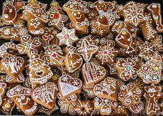 Traditional Slovak Christmas honey cookies