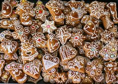 Traditional Slovak Christmas honey cookies