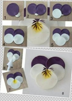 These Polymer Clay Pansies Truly Deserve a WowYou can find Polymer clay flowers and more on our website.These Polymer Clay Pansies Truly Deserve a Wow Fondant Flowers, Paper Flowers Diy, Handmade Flowers, Felt Flowers, Flower Crafts, Fabric Flowers, Fondant Flower Tutorial, Rose Tutorial, Diy Fimo