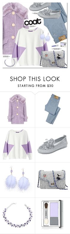 """""""Statement Coats"""" by oshint ❤ liked on Polyvore featuring Miu Miu, D&G, Clinique and Forever 21"""
