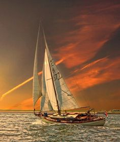 Beautiful sunset and one killer yacht Classic Sailing, Classic Yachts, Float Your Boat, Love Boat, Yacht Boat, Sailboat Yacht, Sail Away, Set Sail, Wooden Boats