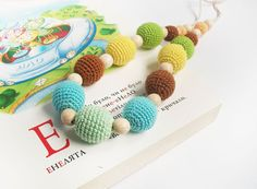Long Multicolored  Breastfeeding Necklace by LittleSweetCandyShop