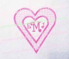 Heart Frame Embroidery - Valentine Heart Embroidery - Machine Embroidery - Instant Download - Two sizes 4x4 and 5x7 - Seven formats by cardsandstitches on Etsy