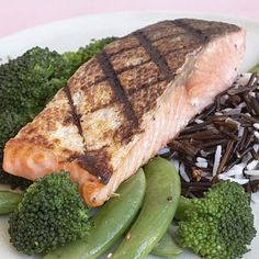 Lean sources of protein help you feel full without adding fat. However, 50% of women ages 18 to 50 don't know if they get enough of this essential nutrient.    Up your intake with salmon; it's a leaner choice than red meat and is chock-full of MUFAs to boot.