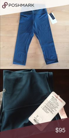 nwt lululemon align crop, alberta lake sold out!!! new with tags. super cute and hard to find! lululemon athletica Pants Leggings