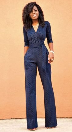 Navy chic jumpsuit