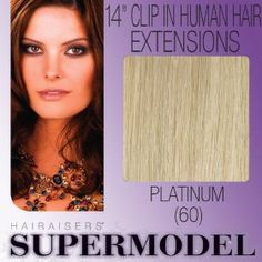 "14"" Clip In Human Hair Extensions Colour 60"