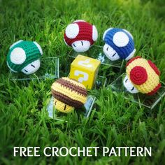 Super Mario Power-up FREE Crochet Pattern This FREE pattern is perfect for beginners. Worked in one piece from the bottom up and later adding the spots. Have a Super Mario lover in your life? These are the perfect, quick and easy gift! Crochet Keyring Free Pattern, Easy Crochet Patterns, Cute Crochet, Crochet Toys, Crochet Super Mario, Easy Gifts, Stuffed Toys Patterns, Craft Items, Crochet Projects