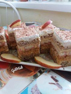 Patrik almás-krémes sütije, egy nagyon kiadós és meglepően ínycsiklandó finomság! Tiramisu, French Toast, Breakfast, Ethnic Recipes, Food, Morning Coffee, Eten, Tiramisu Cake, Meals