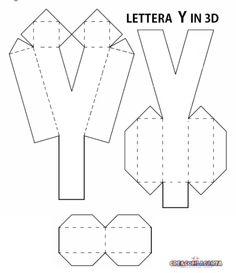 LETTERE DELL'ALFABETO E NUMERI IN 3D FAI DA TE | CreaConLaCarta Diy Gifts For Him, Easy Diy Gifts, Tag Alphabet, Best Gift Baskets, 3d Letters, Paper Crafts Origami, Diy Gift Box, Paper Flowers Diy, Diy Pillows