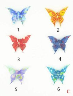 Water Resist Origami Jewelry Japanese Origami Butterfly by qiaojiang on Etsy