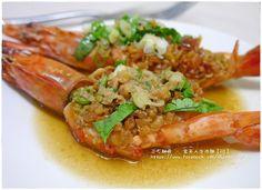 【蒜味蒸大蝦】超簡單電鍋料理食譜、作法 | 官芙人灶咖的多多開伙食譜分享