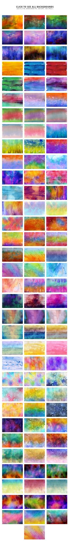 Watercolor Backgrounds 3 by ArtistMef on @creativemarket