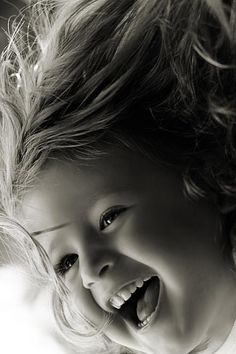 Raise your children in joy and laughter! Precious Children, Beautiful Children, Beautiful Babies, Happy Children, Happy Smile, Smile Face, Make You Smile, Happy Faces, Smiling Faces
