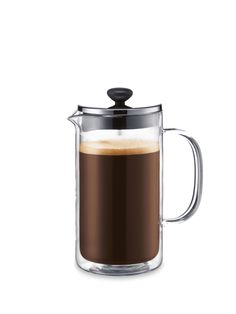 Bodum Bistro Coffee Press: Double walled glass coffee press keeps coffee hotter longer. $30