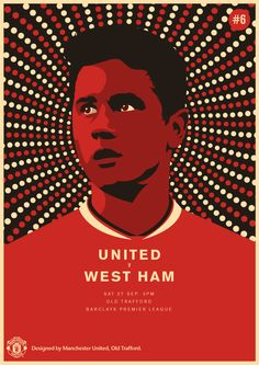 Match poster. Manchester United vs West Ham, 27 September 2014. Designed by @manutd.