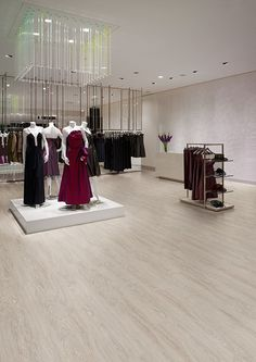 Affinity255 French Limed Oak luxury vinyl flooring tiles in fashion store