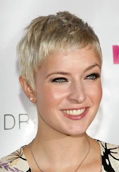 "Best Hairstyles for Square Face Shapes: A ""Worst"" Hair Cut for a Square Face: The Pixie Cut"