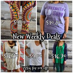 New weekly deals have been posted!! Grab them while they last!  Enter ZZS16 for 10% off!  Plus shipping is free and there's no tax (except in TX)! www.zigzagstripe.com #ilovezigzag #thezigzagstripe #zzs #zzsteachers #zigzagstripe #weeklydeals #freeshipping #taxfree #sale