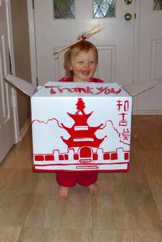 Chinese take out box Halloween costume