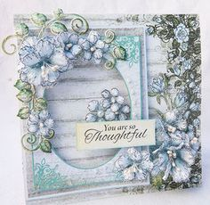 Blushing Rose from Heartfelt Creations.... you're thoughtful card by Alicia Barry