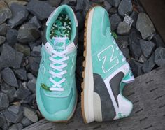 """MITA SNEAKERS X OSHMAN'S X NEW BALANCE ML574 """"MOJITO."""" Dubbed the """"Mojito,"""" this NB ML574 runner features a cool minty green base, inspired by the drink's flavor and signature garnish"""