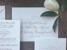 A personal favorite from my Etsy shop https://www.etsy.com/listing/530664412/wedding-calligraphy-hand-written