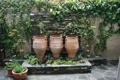 Great alternative to the typical fountain.  Would be great in a small courtyard or side garden.