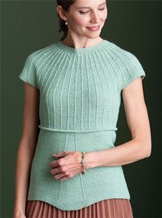 Hope Top by Kristen TenDyke, from Knitting Daily TV Episode 908 - Knitting Daily