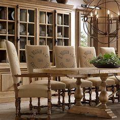 burlap room furniture and decor accessories