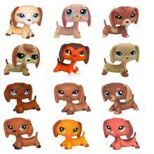 LPS Dachshund dog toys original Rare Dog Collection #675 #640 #556 sausage puppy toys cute animal pets(China (Mainland))