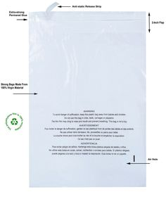 100 Count Strong Glue Clear Self Seal Poly Bags With Suffocation Warning 1.5 mil #PackZoom