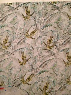 Wonderful sunbird wallpaper from Matthew Williamson 'Eden' collection for Osborne & Little Osborne And Little Wallpaper, Bathroom Wallpaper, Matthew Williamson, Stuffed Animal Patterns, Textile Design, Infinite, Bathroom Ideas, Dawn, Artworks